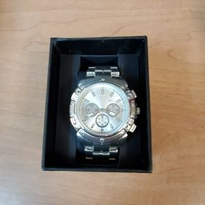 FMD Silver Men's Watch with Silver Band New In Box